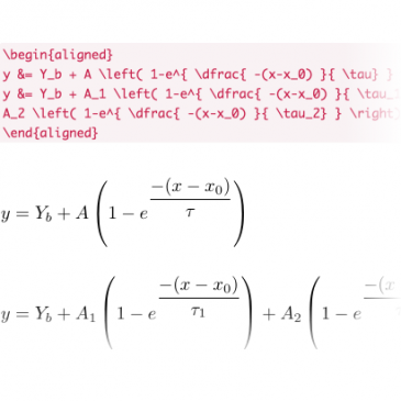 Equation Formatting Primer for OriginLab's LaTeX App