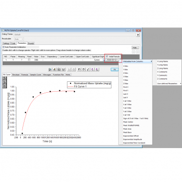 Use Initial Formula to Better Guess Fitting Parameter Values from Data